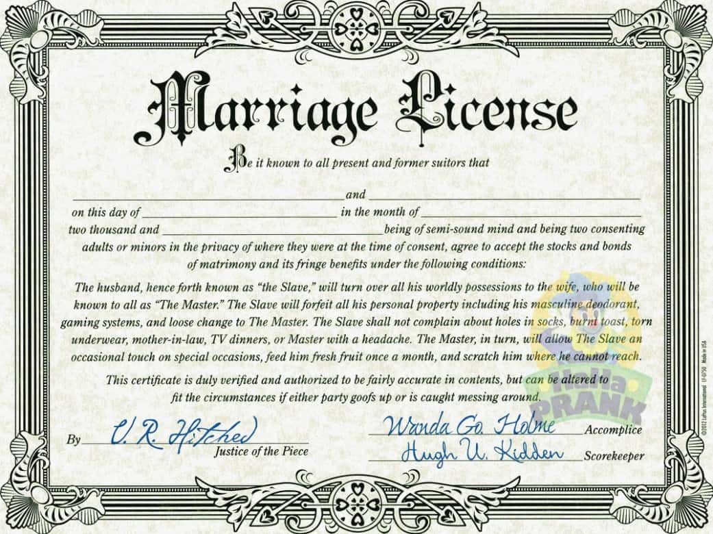 How To Get A Marriage License With Pictures: Buy Fake Marriage Certificate Online Buy Fake Marriage